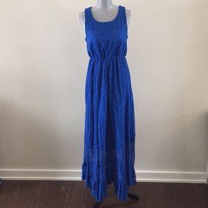 (Solitaire) Royal Blue lace maxi dress